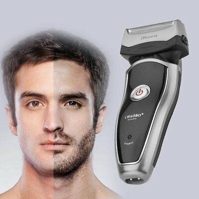 Rechargeable Electric Razor Portable Man Shaver Groomer Double Side EM