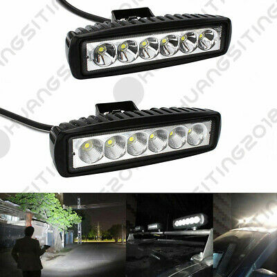 2X 6in 36W Slim Led Light Bar Spot Flood Motorcycle ATV 4X4WD Bumper Backup Pods