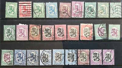 1917 Finland 5p-5m 27 Assorted (Includes some duplicates) USED
