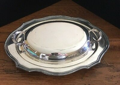 Vintage Oval Silver plated Dish With Lid - Dish Stamped EP <ISW> 1905 P