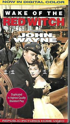 Wake of the Red Witch ~ John Wayne ~ (VHS 1990) ~ New Sealed ~ Digital Color!