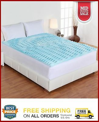 2 Inch Hypoallergenic Foam Mattress Topper Pad Bed Cushion 5Zone Orthopedic Firm