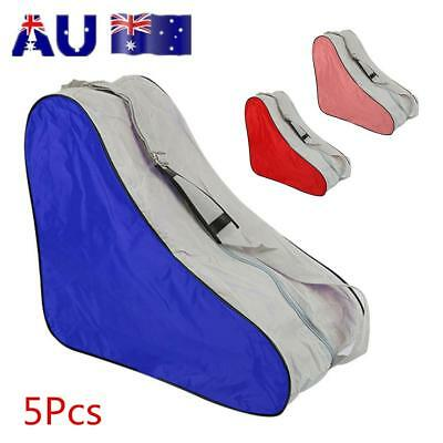 AU! 5Pcs Roller Skates Storage Bag Inline Skates Skating Boots Carrier Handbag