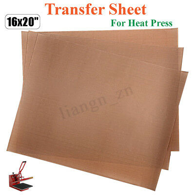 3pcs 50x40cm Heat Press Craft Transfer Sheet Mat Brown Pad Machine Ironing 260℃