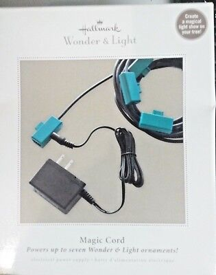 Nib 2011 Hallmark Keepsake Magic Cord Wonder & Light Powers Up To 7 Ornaments