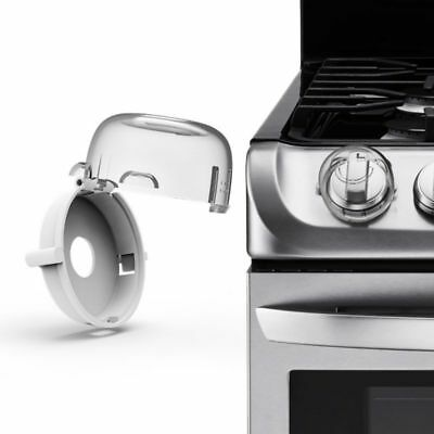 2Pack Kids Safety Stove Oven Knob Covers Protective Gas Cooker Switch Locks Home