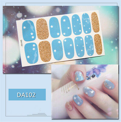 14pcs/ Sheet Floral Nail polish Wraps Nail Art Full Stickers Decals Manicure