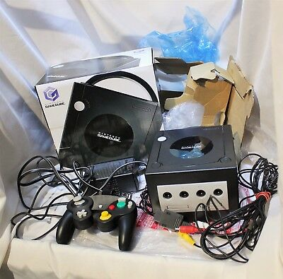 Nintendo Gamecube Black Console In Box GC DOL-101 TESTED