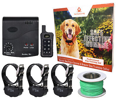 3 Dog electric fence system remote training collar invisible waterproof wireless