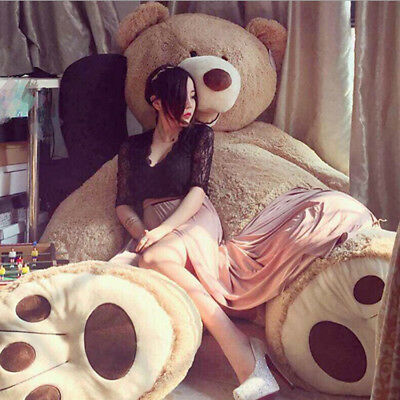 80CM-200CM Brown Giant Skin Teddy Bear COVER ONLY Big Stuffed Toy Christmas Gift