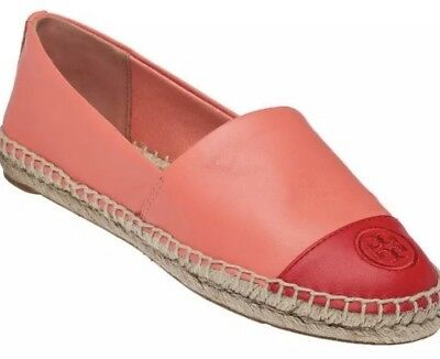 ad011bc7d Tory Burch Colorblock Cap Toe Espadrilles Logo Size 10.5 M Closed Toe $295