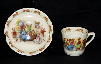 Vintage Royal Doulton Bunnykins Childs Cup And Saucer Collectable