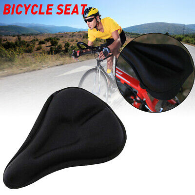 Silicone Gel Thick Soft Bicycle Bike Cycling Saddle Seat Cover Cushion Pad BT