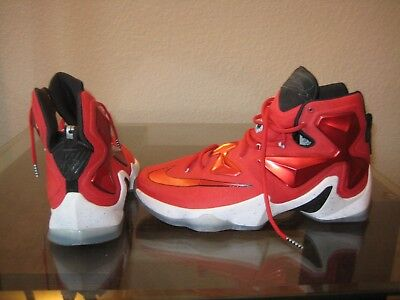 watch bcf66 d0cc1 Nike LeBron XIII  On Court  Trainer University Red White Black Men s Size