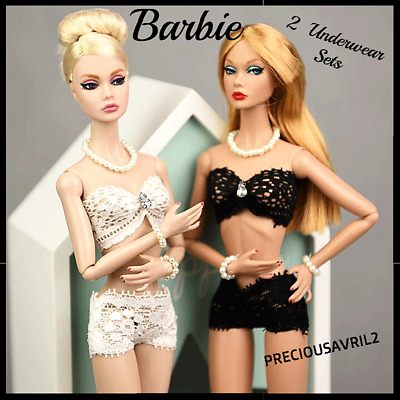 New Barbie doll clothes clothing underwear 2 x Sets Bras & Panties accessories