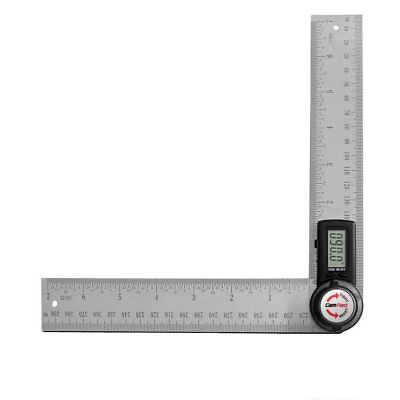 GemRed 82305 Digital Angle Finder 7-Inch Protractor 200mm Stainless Steel An...