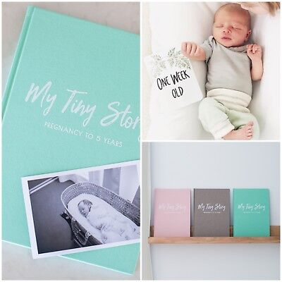 Baby Memory Journal and Milestone Cards Bundle