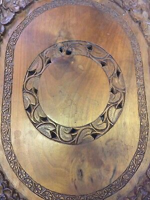 Beautiful Antique Black Forest Hand Carved Tray Serving Platter