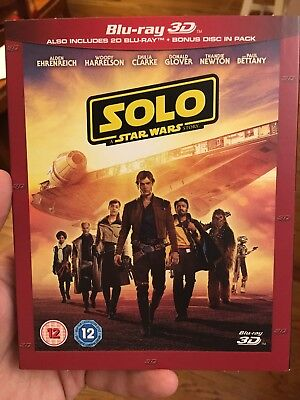 SOLO: A STAR WARS STORY 3D / 2D Blu-ray SHIPS FROM US SELLER - IN STOCK!