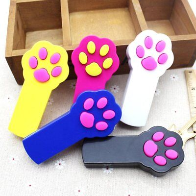 Paw Shape Cat Stick Battery Operated LED Red Light Pointer Cat Training Tools NS