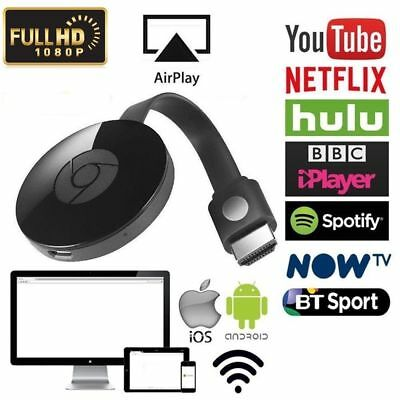 pour Google Chromecast 2 WiFi HDMI Écran Miroir HD 1080P Dongle youtube Miracast