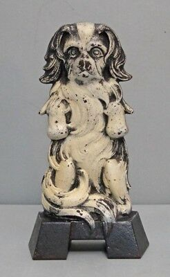 VINTAGE JAPANESE SPANIEL DOG CAST IRON DOORSTOP JUDD CO. 1920's