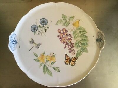 Lenox China Butterfly Meadow Cake Plate