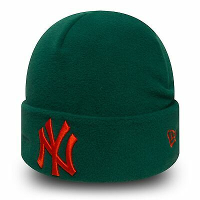 MLB New York Yankees Era Winter Utility Micro Fleece Knit Dark Green/Orange Kids