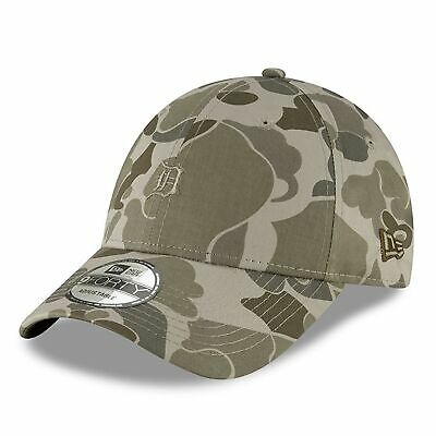 MLB Detroit Tigers New Era Steel Clouds Camo 9FORTY Adjustable Cap Hat Headwear