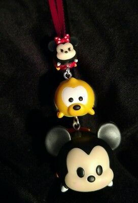 Disney Tsum Tsum Mickey and Minnie Mouse Christmas Ornament Stacked Pluto