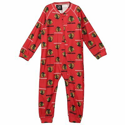 NHL Chicago Blackhawks Raglan AOP Sleeper Suit Infant /& Baby Fanatics