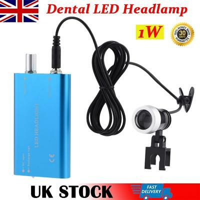 Portable Dental LED Headlight Dentist Surgery Headlamp for Loupes Magnifier UK