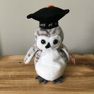 1999 Wiser The Class Of 99 Graduation Owl Beanie Baby Mint With Mint Tags