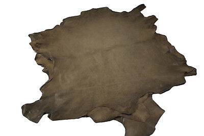 Distressed Khaki Brown hides - Aniline sheep leather