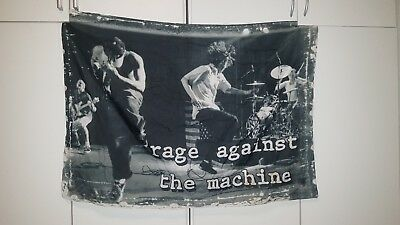 """Rage Against The Machine Flagge / Fahne """"live"""" Poster Flag Posterflagge"""