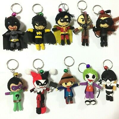 voodoo doll keyring superhero villain movie string yacht keychain charm handmade