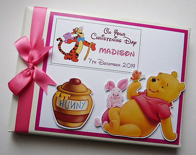 Personalise Disney Winnie The Pooh Birthday Guest Book Any Design