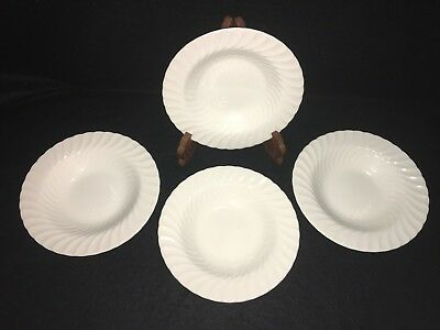 """Johnson Brothers REGENCY SWIRL ROUND 8 1/2"""" RIMMED SOUP CEREAL BOWLS Lot x 4"""