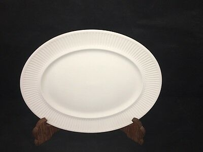 """Johnson Brothers ATHENA WHITE 11 1/2"""" OVAL SERVING PLATTER Ribbed Ironstone Exc."""