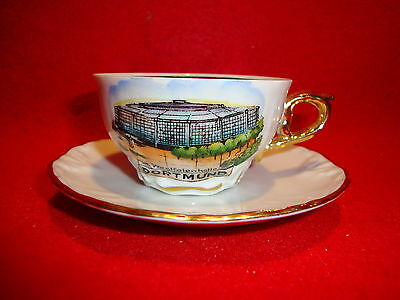 HOEHR Westfalenhalle DORTMUND Hand Painted Mini Small CUP & SAUCER Gold Handle