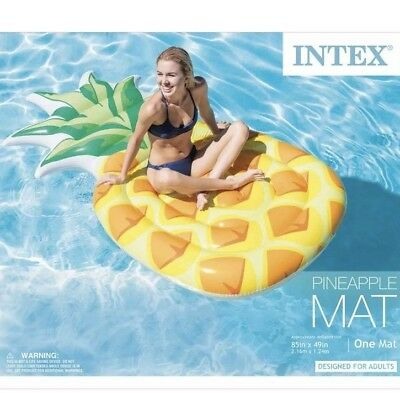 INTEX GIANT INFLATABLE Pineapple Swimming Pool Float Mat size 85\