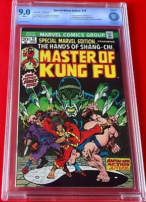Special Marvel Edition #15 Cbcs 9.0 W Pq 1St App Shang-Chi Master Of Kungfu