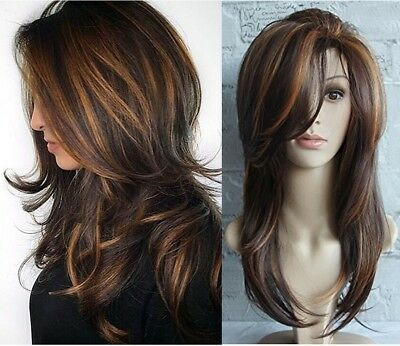 5 Styles Women Long Curly Wigs Synthetic Hair Natural Full Wavy Wig G
