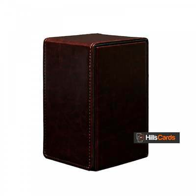 Ultra PRO Alcove Tower Deck Box - Cowhide - Trading Card Storage Case - AW9898