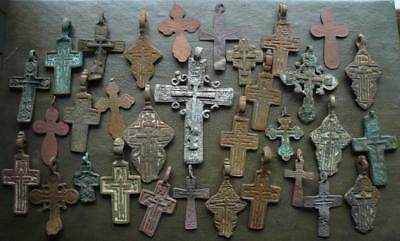 Metal detector finds.Mix lot  ancient crosses (The age of 15-19). N42