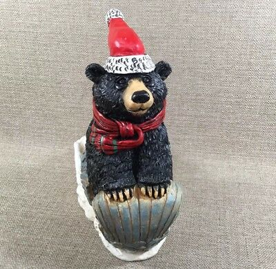 The Stone Bunny Inc Bear Sleigh Ride Statue 0829 Signed Telle M. Stein 2002