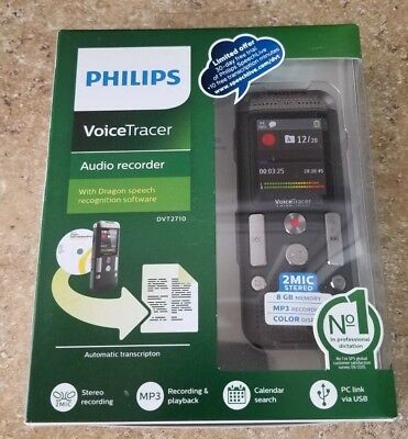 Philips Voice Tracer Audio Recorder DVT2710 - NEW, NEVER OPENED - FREE SHIPPING!