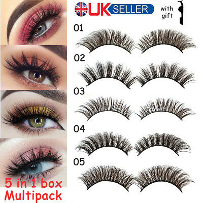Multipack Fake Eye Lashes Thick False Eyelashes Long Wispy Natural Lashes Mink