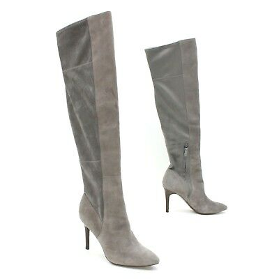 f9b3a0bd258 Cole Haan Ladies 8 B Emilee Grand OS Gray Suede Over The Knee OTK Boot Ankle