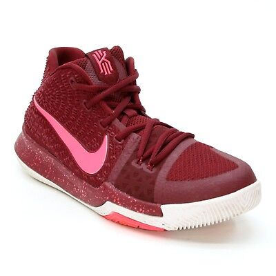 89488e0b408 Nike Youth Size 7 Kyrie 3 Big Kids Team Red Punch Basketball Sneakers